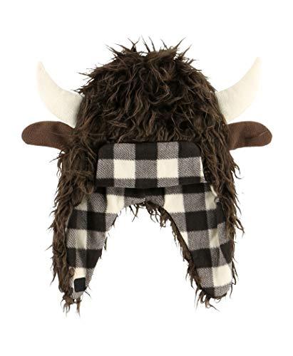 Roam Critter Cap Hats For Kids And Adults by LazyOne | Fun Costume Winter Bear Moose Buffalo Beanie Hats (LARGE) ()