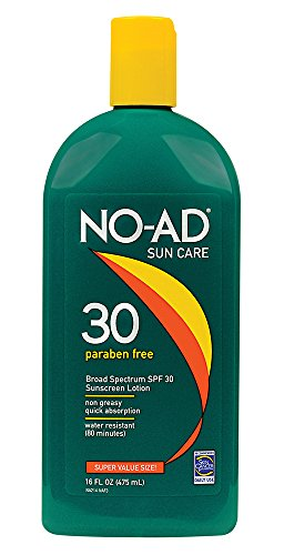 - NO-AD Sun Care Sunscreen Lotion, SPF 30 16 oz