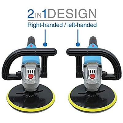 VViViD REV 3800 RPM 7 Inch 6-Speed Hand-Held Polisher and Buffer: Automotive
