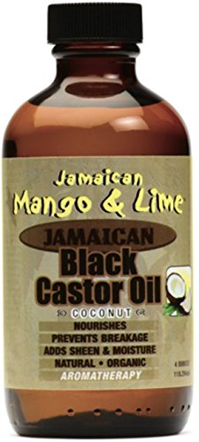 Jamaican Mango Lime Black Castor Oil With Coconut, 4 oz Pack of 4
