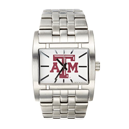 (Rockwell NCAA Texas A&M Aggies Men's Apostle Watch, Adjustable, Silver)