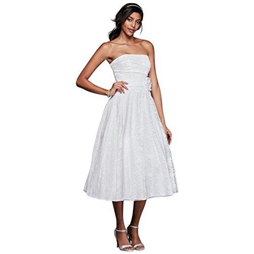 Sample: As-is Lace Tea-Length Drop Waist Wedding Dress Style (Garden Drop Waist Dress)
