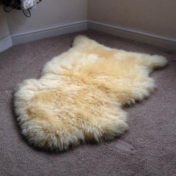 A-STAR Genuine Sheepskin Single Rug - 2x3 Sheep Skins (Fur Genuine Handbag)