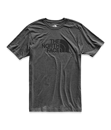 - The North Face Men's Short Sleeve Tri-Blend Half Dome Tee, TNF Dark Grey Heather/TNF Black, Size XL