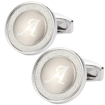 GWD Cufflinks for Men Shirt Premium Quality Personalized Initials Alphabet A-Z Gift Box