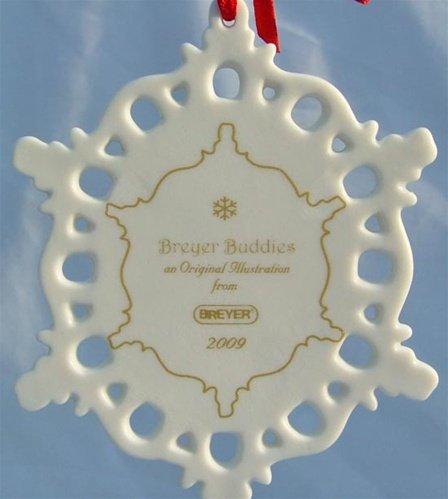 Breyer 2009 Winter in the Woods Breyer Buddies Porcelain Snowflake Ornament (Breyer Christmas Horse)