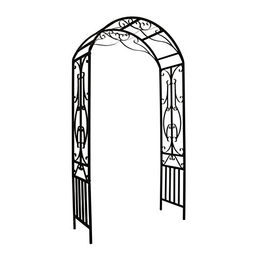 (1. GO Steel Garden Arch, 7'2'' High x 3'11'' Wide, Garden Arbor for Various Climbing Plant, Outdoor Garden Lawn Backyard)