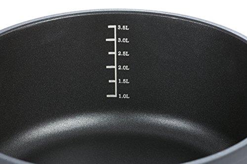 /Sart/én Honda GSW 164023/Gourmet Scala/ o, Tapa 28/cm, Aluminio Fundido, Negro, 50,5/x 28,8/x 7,5/cm