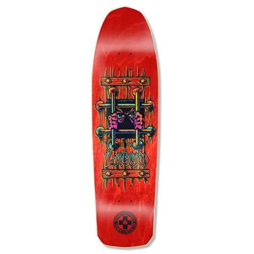 Black Label Deck - Black Label Skateboard Deck Emergency Lucero OG Bars Red 9.25? x 33.25?