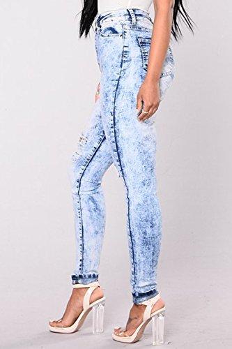 Donne Buco Jeans Jeans Forma Magre Blue Al Zojuyozio Strappati In Occasionale 7pdAcdq6W