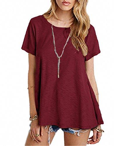 Afibi Womens Basic Sleeve T shirt