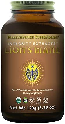 HealthForce Integrity Extracts Lion s Mane – 150g Vegan Powder – Organic Mushroom Powder – Antioxidant, Promotes Energy Immunity – Supports Memory Cognitive Function – Gluten-Free – 50 Servings