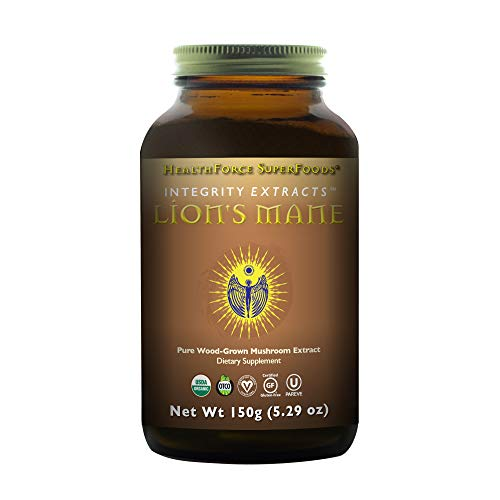 HealthForce Integrity Extracts Lion's Mane - 150g Vegan Powder - Organic Mushroom Powder - Antioxidant, Promotes Energy & Immunity - Supports Memory & Cognitive Function - Gluten-Free - 50 Servings