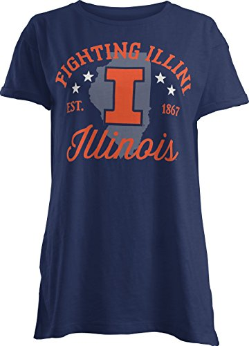 NCAA Illinois Illini Abingdon Short Sleeve T-Shirt, X-Large, Navy