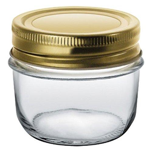Le Comptoir de la Conserve 5030 Set of 6 glass terrines with transparent screw caps 200 g