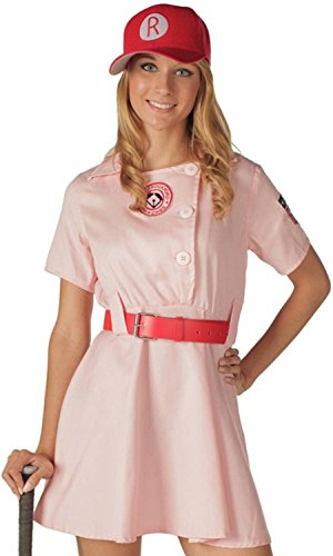 A League Of Their Own Peaches Costume (Juniors A League Of Their Own Rockford Peaches Costume Pink Large)