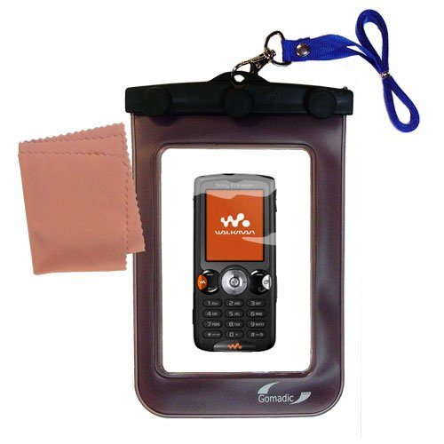 Sony Ericsson W810i Phone Case - outdoor Gomadic waterproof carrying case suitable for the Sony Ericsson W810 / W810i to use underwater - keeps device clean and dry