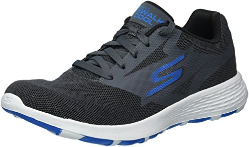 Skechers Performance Men's Go Walk Cool-54651 Sneaker,Charcoal/Blue,8 M (Skechers Cool)