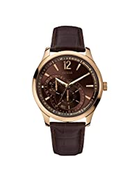 Guess W95086G1 44mm Stainless Steel Case Brown Leather Mineral Men's Watch