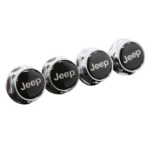 Plate Chrome Bolt License (Chrome Metal Sports Style Car License Plate Frame Universal Bolt Screws For JEEP)