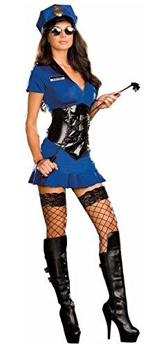 Women's Officer Anita Friskya (As Shown;Medium) (Sexy Bad Cop Costumes)