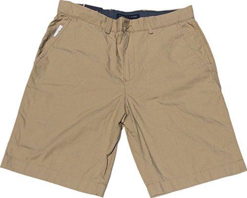 Tommy Hilfiger Mens Flat Front Shorts (34W, Mallet)
