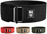 Gymreapers Quick Locking Weightlifting Belt for Bodybuilding, Powerlifting, Cross Training - 4 Inch Neoprene w