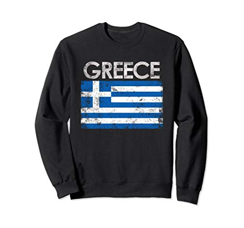 - Vintage Greece Greek Flag Pride Sweatshirt