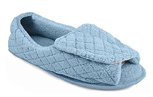 Muk Luk Dames Instelbare Open Teen Slipper (m, Lichtroze) Lichtblauw