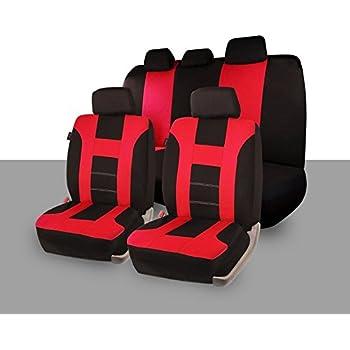 Amazon.com: Zone Tech Universal Full Set of Car Seat Covers Racing
