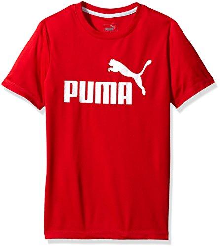PUMA Big Boys' 1 Logo Tee, Fierce Red, Small by PUMA