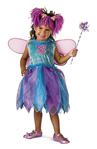 Disguise Baby Girl's Sesame Street Abby Cadabby Deluxe Costume, Blue/Purple, 12-18 Months