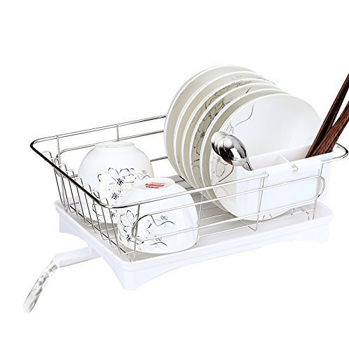 Dish Drying Rack Rustproof Stainless Steel Metal Wire Medium