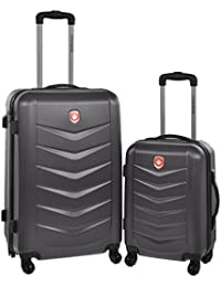Lightweight Hard Side Wheeled Suitcase 2 Piece Luggage Set