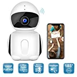 Wireless Security Camera, 2019 Upgraded IKARE 1080P Indoor Home Camera for Baby, Surveillance Remote Monitor with Night Vision, Motion Detection, Pet Cam with iOS/Android App V380 Pro, 2-Way Audio