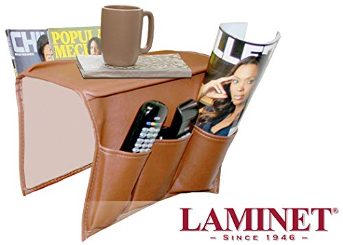 LAMINET Leather Sofa Arm Chair Organizer - TAN