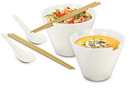 Kovot Noodle Soup Bowl Set - 28 Oz Bowls - Great For Pho, Ramen Noodle, And Miso Soups by Kovot