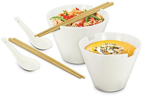 Kovot Noodle Soup Bowl Set - 28 Oz Bowls - Great For Pho, Ramen Noodle, And Miso Soups