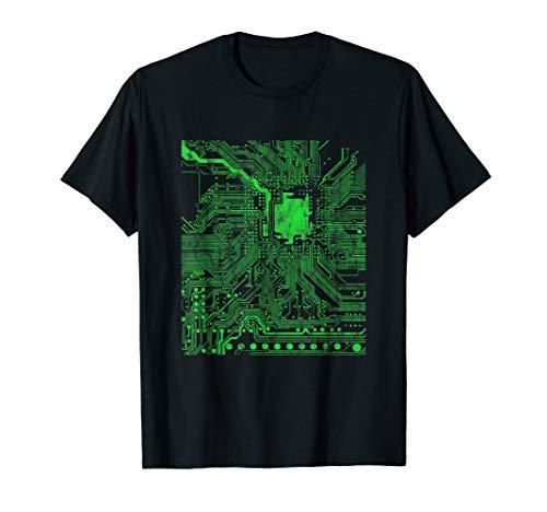 Computer Chip Motherboard CPU Heart Programmer Nerd T-Shirt