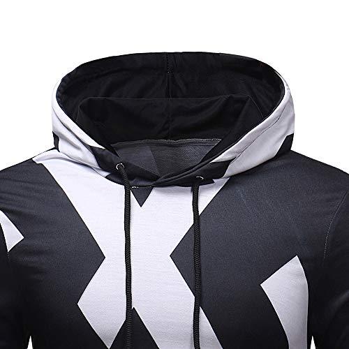 Challenge Uomo Nero Cappuccio Autunno Hooded Con Tute shirt Manica Felpe Giacca T Inverno Felpa Outwear Hoodie Pullover Top Lunga Cappotto Sweatshirt Stampata rCFwqBr1x