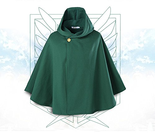 Cape Costume Attack Titan On (Shingeki no Kyojin Attack on Titan Scouting Legion Freedom Cloak Levi Cape (S (body height)