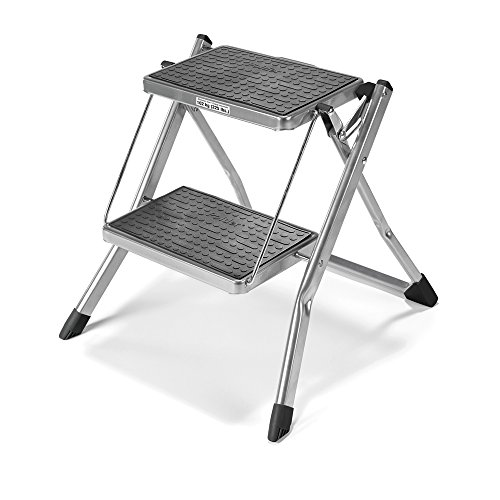 Polder 2-Step Stool, Silver - Mini Stool