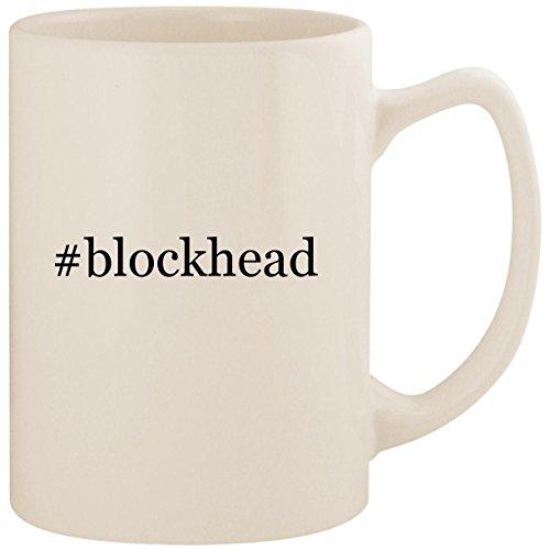 #blockhead - White Hashtag 14oz Ceramic Statesman Coffee Mug Cup