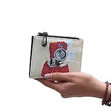 Dreambox Leather Mini Slim Wallet Women Useful Multi Card Wallets Small Purse
