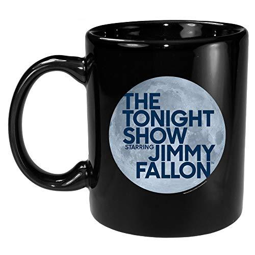 The Tonight Show Starring Jimmy Fallon Logo Ceramic Mug, Black 11 oz - Official Mug As Seen On NBC