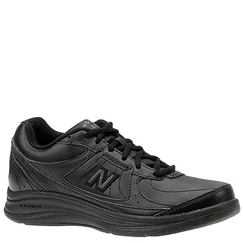 New Balance Women's WW577 Walking Shoe, Black, 5 2E US