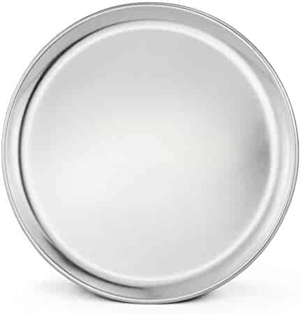 New Star Foodservice 50882 Pizza Pan/Tray, Wide Rim, Aluminum, 12 Inch, Pack of 6