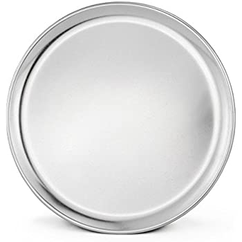 New Star Foodservice 50745 Pizza Pan/Tray, Wide Rim, Aluminum, 12 Inch