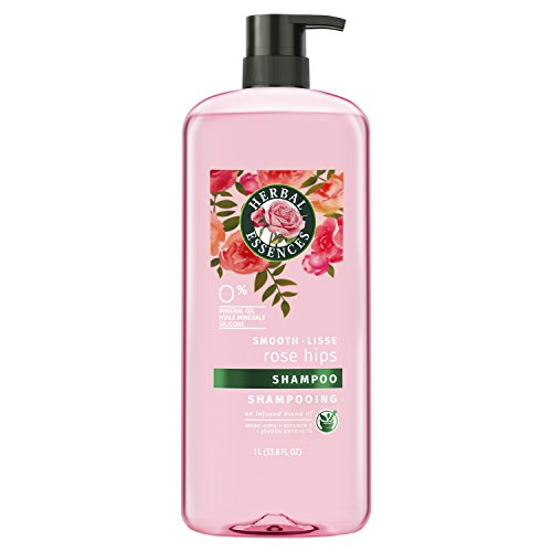 Clairol Herbal Essence Herbal Shampoo - Herbal Essences Smooth Collection Shampoo with Rose Hips & Jojoba Extracts, 33.8 fl oz
