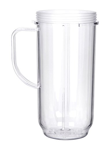 Sduck Handled Smoothie Mug Replacement for Magic Bullet 250w 300w MB 1001 MB 1001B MBR-1101 MBR-1701 Blender (Not for Nutribullet or any other series)